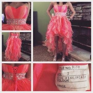 Pink &Peach PROM dress