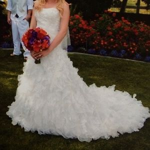 Dresses & Skirts - Beautiful beaded white and ivory wedding dress