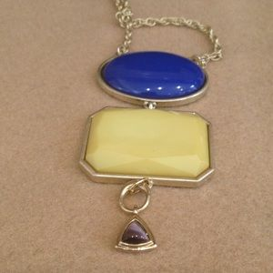 Towne & Reese Jewelry - Blue/yellow/faux tiger eye pendant  necklace