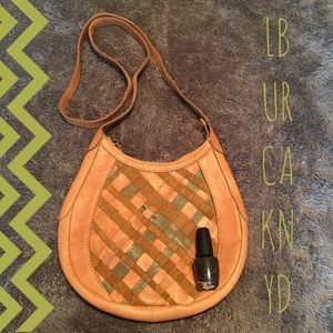 Lucky Brand Leather Cross Stitch Crossbody