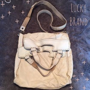 Lucky Brand White Abbey Road Crossbody