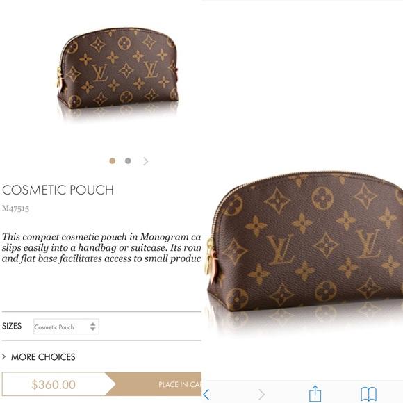 543e2582d78e Auth-Louis Vuitton monogram cosmetic pouch NWT