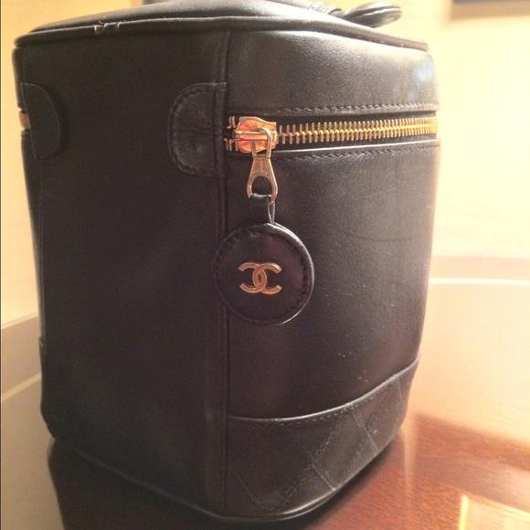 Chanel Bags Vintage Vanity Makeup Bag Lambskin Poshmark
