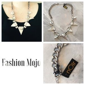 nOir Jewelry Silver and Spike Necklace! NWT
