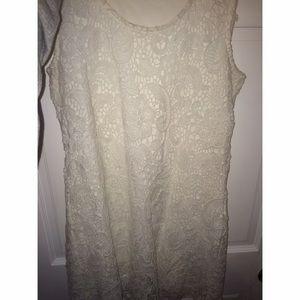 Solitaire Lace/Crochet White Dress