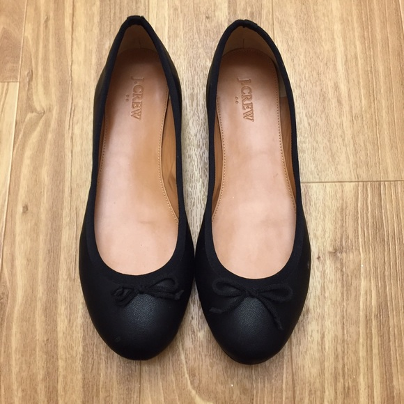 J.Crew Ballerina Flats With Patent Pointed Toes