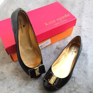 kate spade Shoes - Kate Spade Black Patent Trophy Flats