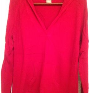 Kenar Sweaters - Red Hooded Sweater