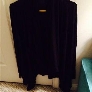 F21 black draping cardigan