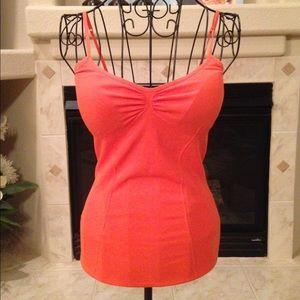bebe Tops - Bebe Orange padded bra camisole