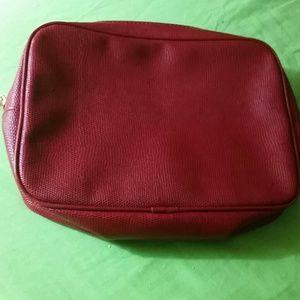 Estee Lauder red makeup bag