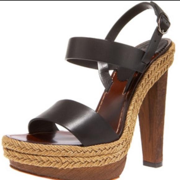 c88e69dec57 Christian Louboutin Shoes - Christian Louboutin Wood platform espadrille  heel