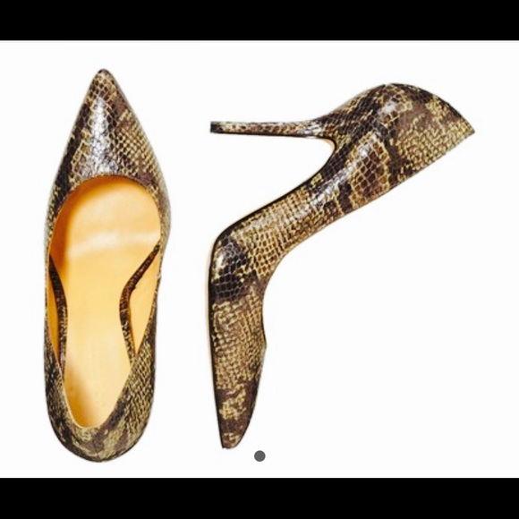 "Joe Fresh Shoes - Joe Fresh snakeskin croc pumps. New. Over 4"" heel!"