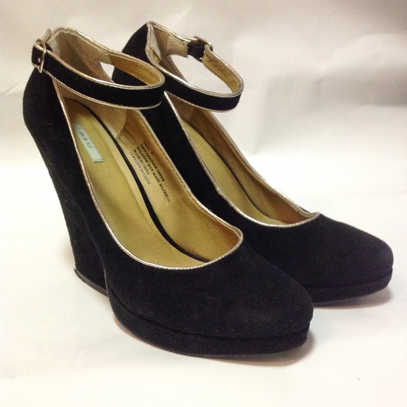 70b094912ba Kimchi Blue Shoes - Kimchi Blue Black Silver AnkleStrap Mary Jane Heel