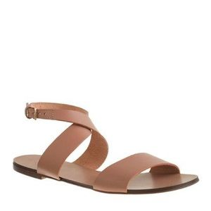 FINAL PRICE J.Crew Crossover Leather Sandals