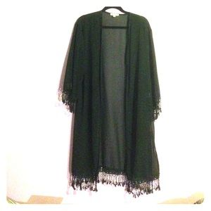 Outerwear - Chiffon Fringe Kimono