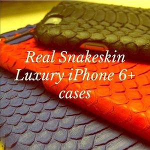 Handmade Accessories - 🆕 Luxe Matte Real Snakeskin IPhone 6/6S plus case