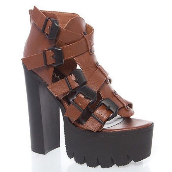 63% off Shoes - ❗ sale❗ Chunky Heel Lug Sole Platform Shoe ...