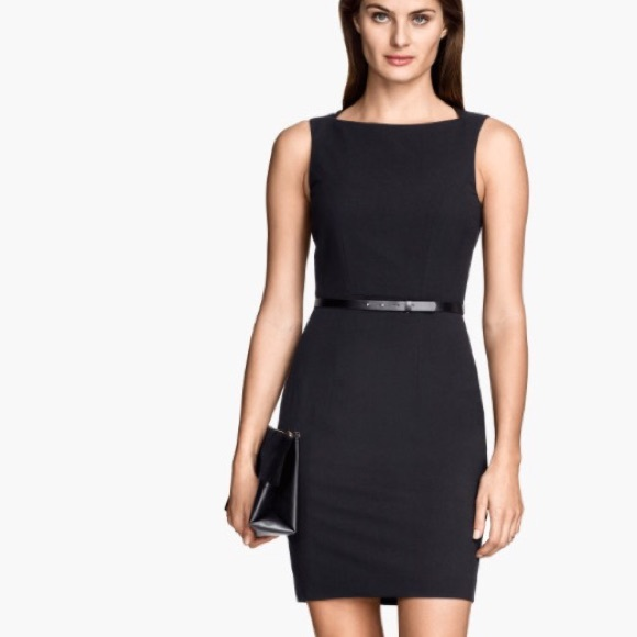 Black Fitted Dresses Dress Yp