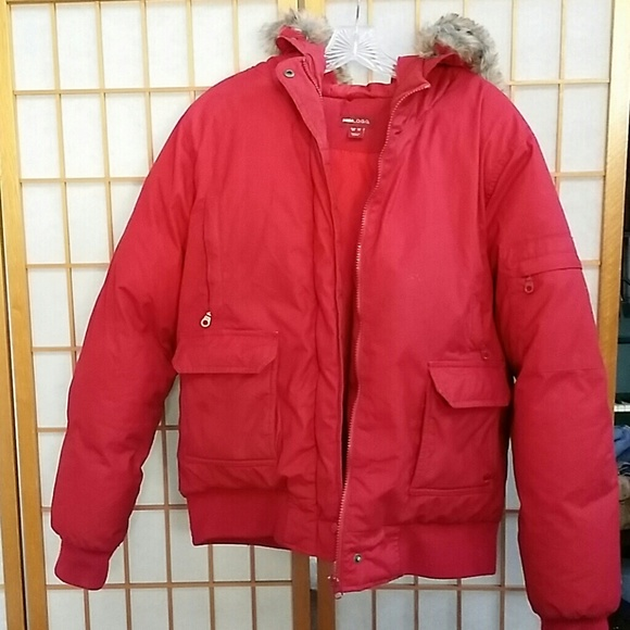 H&M - H&M red winter parka padded jacket L.O.G.G from Zuri's ...