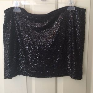 NWT Express Sequin Black Mini Skirt