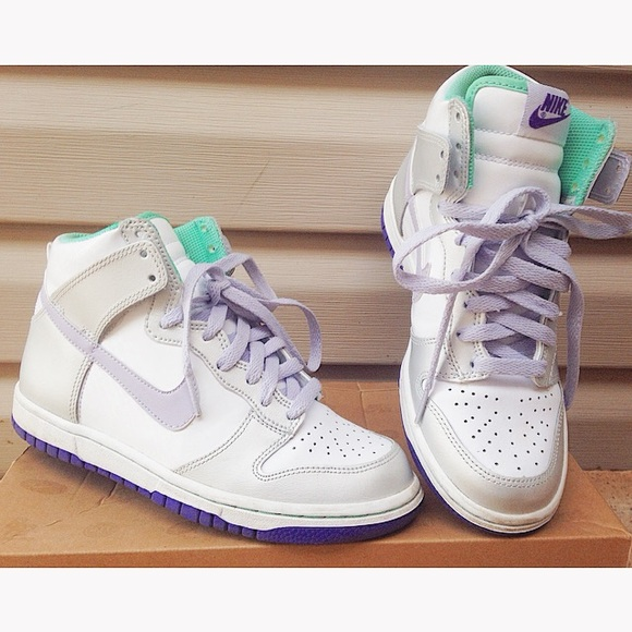 Nike Dunk High GS - White/Purple/Silver (Youth)