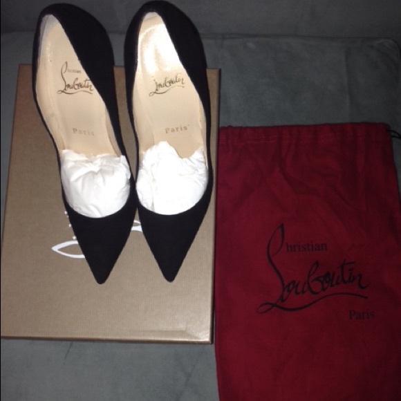 buy online a7291 1de1f Christian Louboutin Black suede So Kate size 36