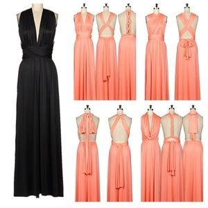 That Glam Girl Boutique Dresses - Black multiway maxi dress