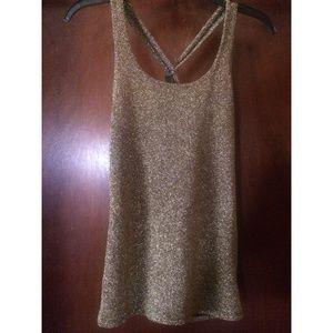 Express gold glitter tank✨