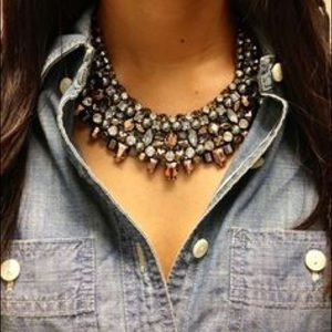 FINAL PRICE Stella & Dot Kahlo Necklace Hematite