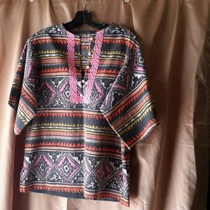 Del Mano Designs  Tops - Boho cotton tunic shirt