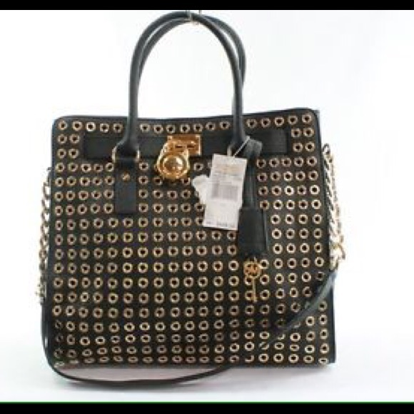 f431502e042f Black Gold Hamilton Circle Stud Large. M_551c41035a49d07ef400a3fc. Other  Bags you may like. Authentic Michael Kors Handbag