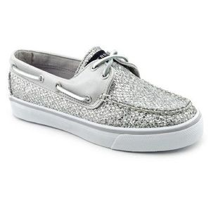 Sperry Top-Sider Silver Sparkle Boat Shoes