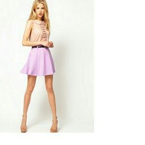 ASOS Ponte Mini Skirt in Lilac