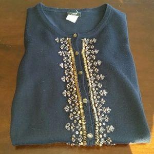 BUNDLE for Elizabeth Jcrew Navy Beaded Sweater