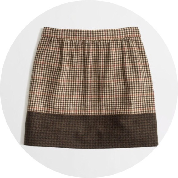 73% off J. Crew Dresses & Skirts - J crew brown plaid skirt from ...