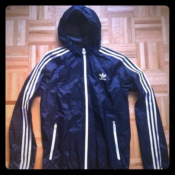 Adidas giacche antivento pioggia giacca bianca & cappotti marina poshmark