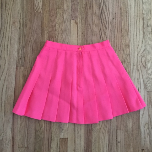 American Apparel - SOLD Bright Pink Pleated Tennis Skirt ...