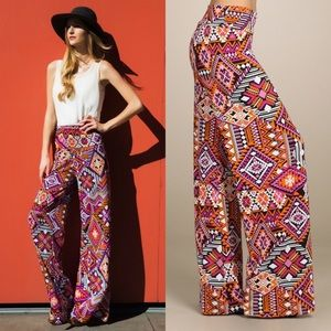 The FRANKIE tribal palazzo pant - PINK
