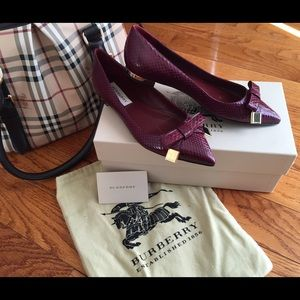 REDUCEDBurberry Flats