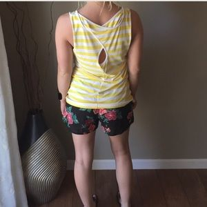 Banana Republic Striped Keyhole Tank
