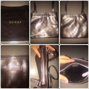 Authentic Gucci leather crossbody bag