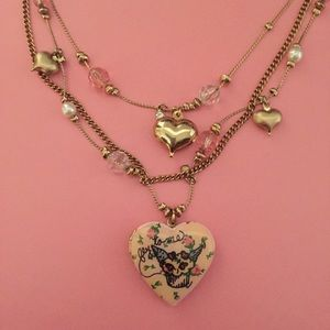 Betsey Johnson Jewelry - Fly To Me Cupcake Wing Rosebud Tea Party Locket