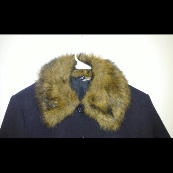 h m Trench Coat Faux Fur