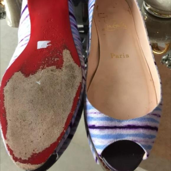 fecdb4f7a161 ... Christian Louboutin Shoes - Christian Louboutin Mumbai Open Toed Flats