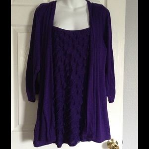 Tops - REDUCED - Purple Twinset