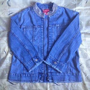 Goddess Jackets & Blazers - 🎉HOST PICK🎉 Medium Blue Denim 3/4 Sleeve Jacket