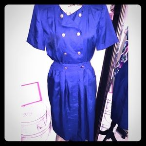Dresses & Skirts - Blue Vintage Dress Size 10