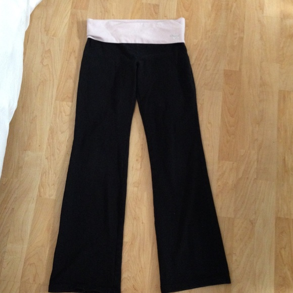 Pink Victoria S Secret Pants Bootcut Yoga With Light Pink Band