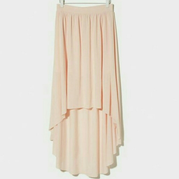 63 dresses skirts light pink chiffon high low